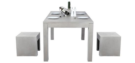 table de cuisine grise en béton