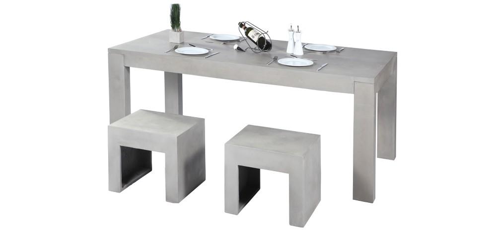 table à manger en béton