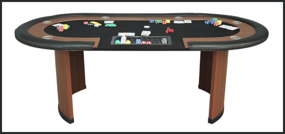 table de poker tapis noir
