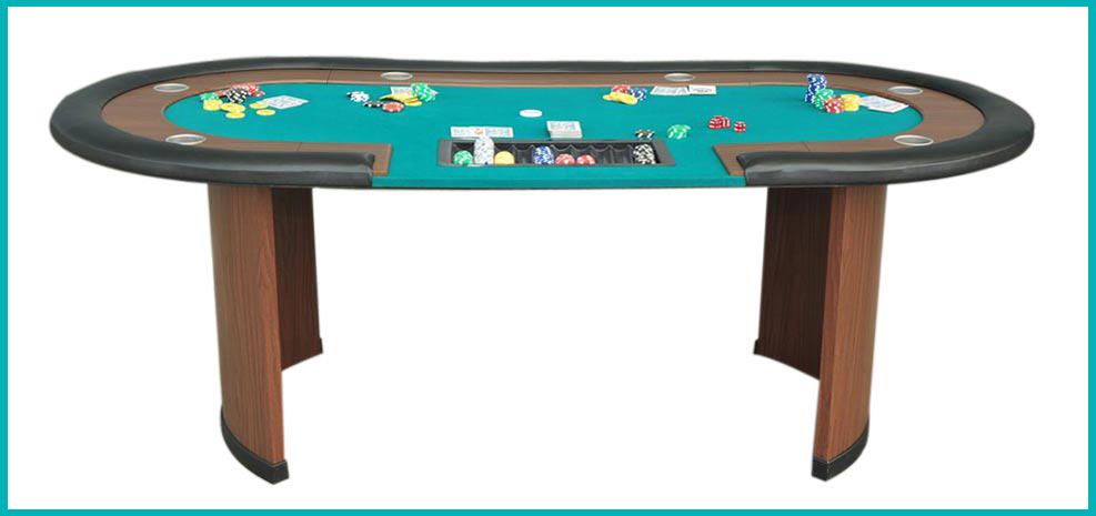 table de poker tapis vert