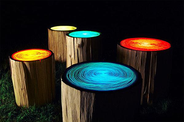 tree ring ligts par l'artiste canadien Judson Beaumont