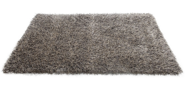 tapis style shaggy gris