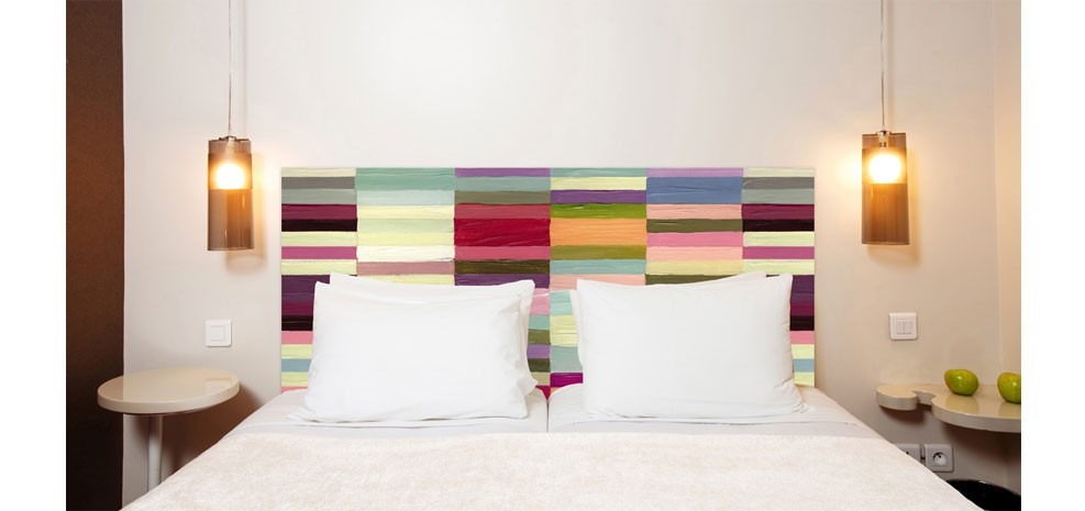 tête de lit en tissu design pas chère