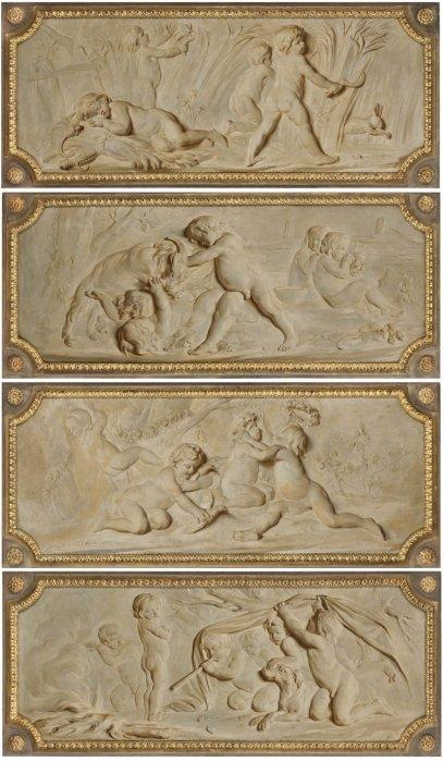bas relief du XIXème siècle trompe l'oeil