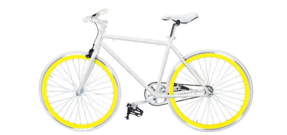 achat vélo fixie jaune pas cher