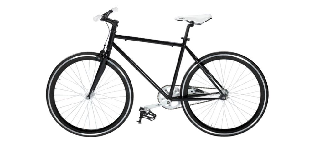 acheter vélo fixie noir design